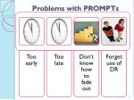 problems with prompts