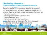 disclosing diversity towards complexity sensitive spatial concepts