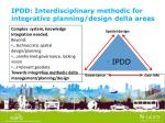 ipdd interdisciplinary methodic for integrative planning design delta areas