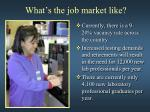 what s the job market like