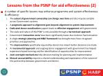 lessons from the psnp for aid effectiveness 2