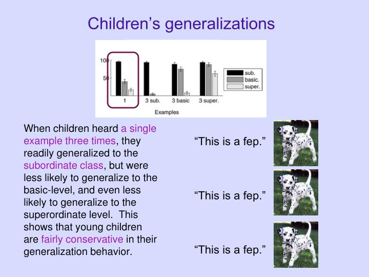 Children's generalizations