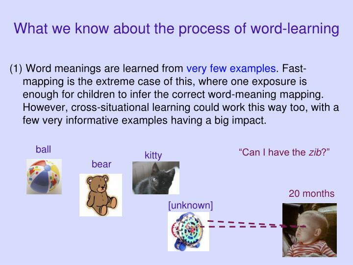 What we know about the process of word-learning