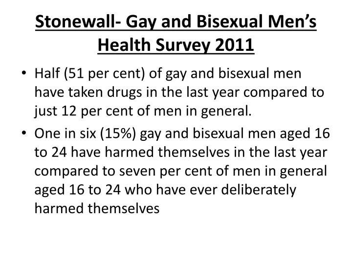 Stonewall gay and bisexual men s health survey 20111