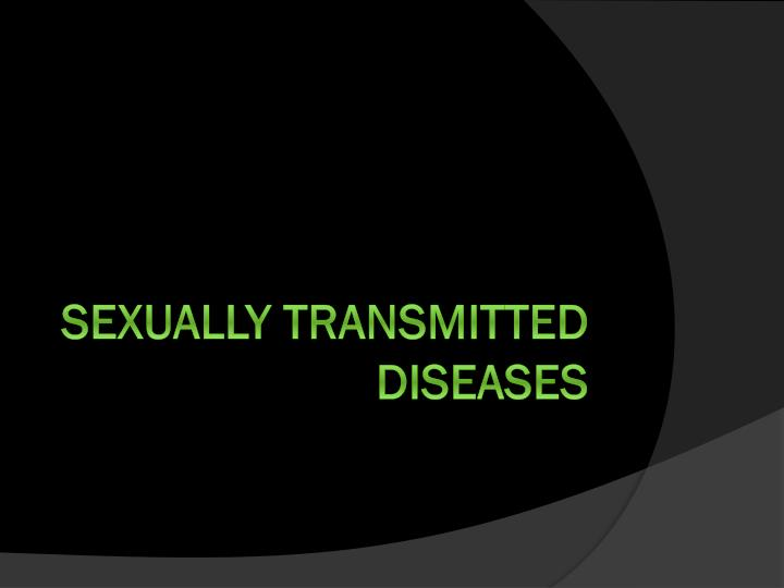 sexually transmitted diseases n.