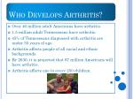 who develops arthritis
