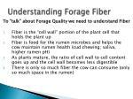 understanding forage fiber