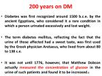 200 years on dm1