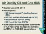air quality oil and gas mou