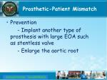 prosthetic patient mismatch
