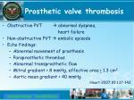prosthetic valve thrombosis1