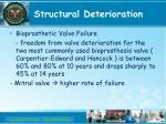 structural deterioration