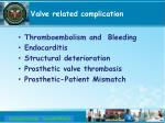 valve related complication