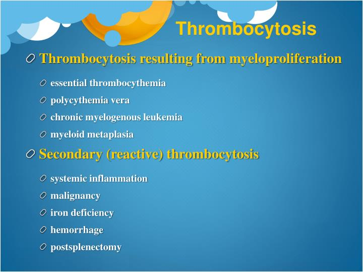 Thrombocytosis