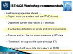 ibtracs workshop recommendations