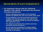 measuring pulsus paradoxus