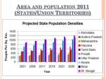 area and population 2011 states union territories