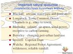 important natural resources complementary inputs to community wellbeing