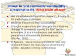 interest in rural community sustainability a response to the dying towns disease