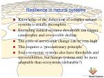 resilience in natural systems
