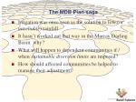 the mdb plan saga
