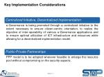 key implementation considerations1