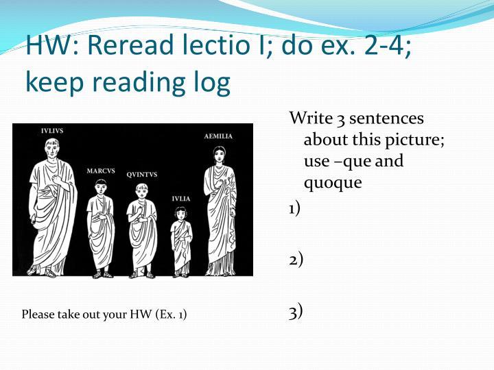 Hw reread lectio i do ex 2 4 keep reading log