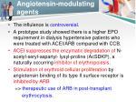 angiotensin modulating agents1