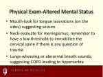 physical exam altered mental status1