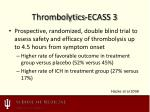 thrombolytics ecass 3