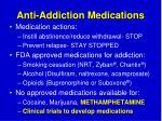 anti addiction medications