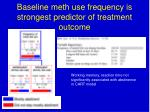 baseline meth use frequency is strongest predictor of treatment outcome