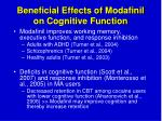 beneficial effects of modafinil on cognitive function