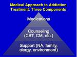 medical approach to addiction treatment three components