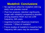 modafinil conclusions