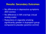 results secondary outcomes