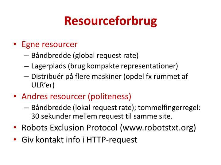 Resourceforbrug