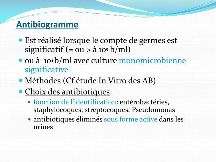 Antibiogramme
