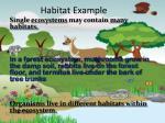 habitat example