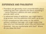experience and philosophy
