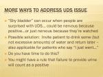 more ways to address uds issue