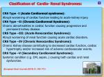 clasificat on of cardio renal syndromes