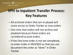 vph to inpatient transfer process key features