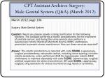 cpt assistant archives surgery male genital system q a march 2012