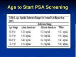 age to start psa screening