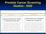 prostate cancer screening studies 2009