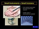 small instruments small incisions