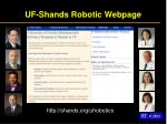 uf shands robotic webpage