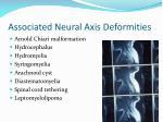 associated neural axis deformities