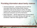 providing information about family violence